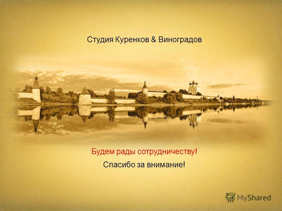 Студия Куренков & Виноградов Спасибо за внимание! Будем рады сотрудничеству!