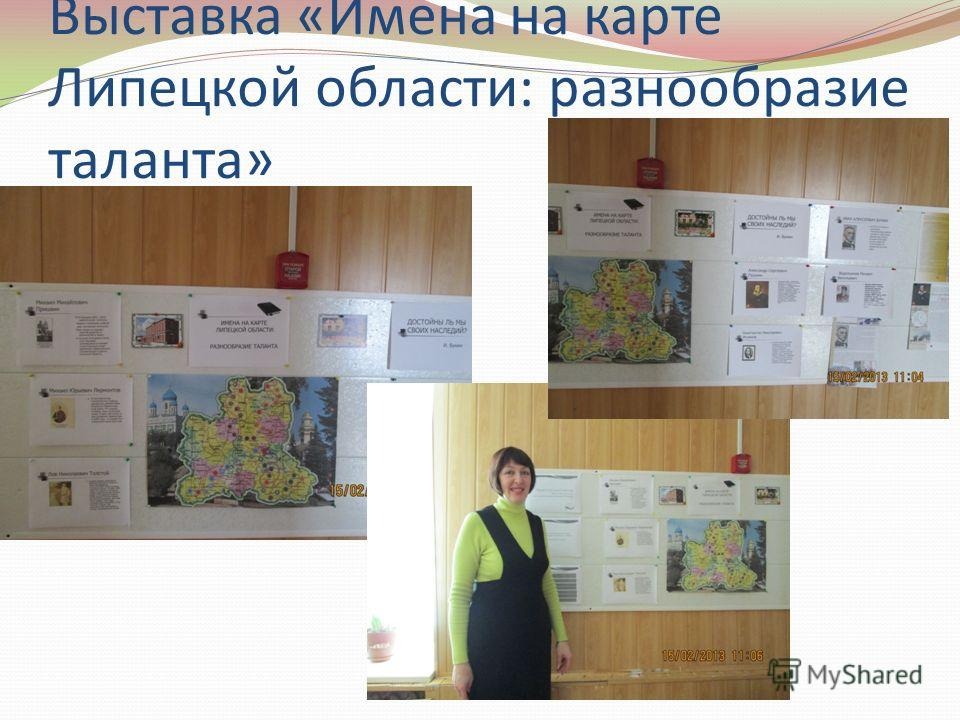 Выставка «Имена на карте Липецкой области: разнообразие таланта»