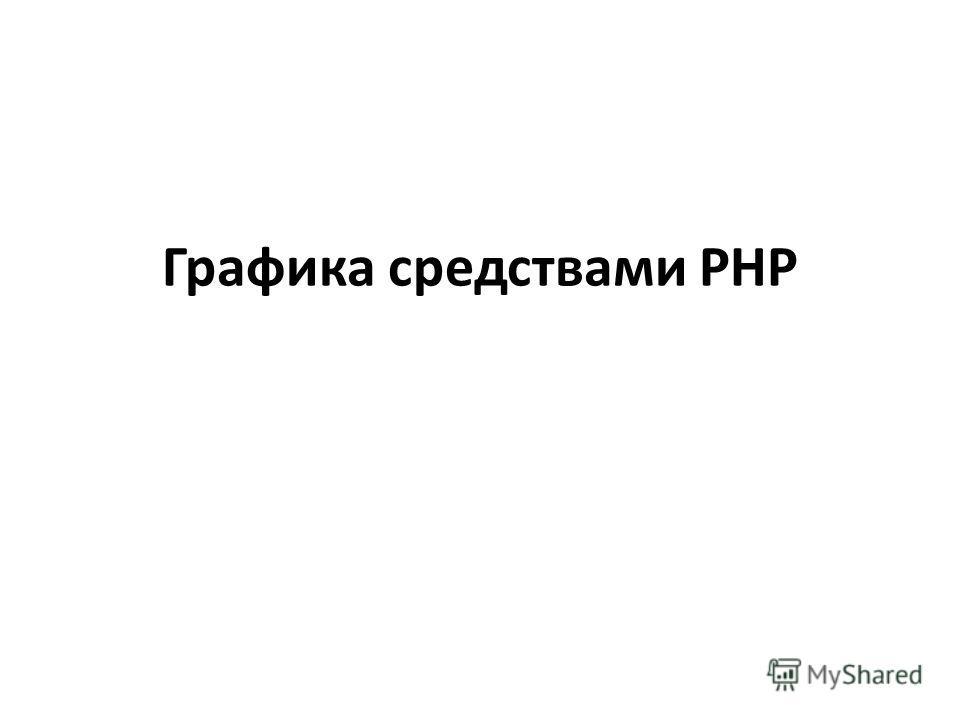 Графика средствами PHP