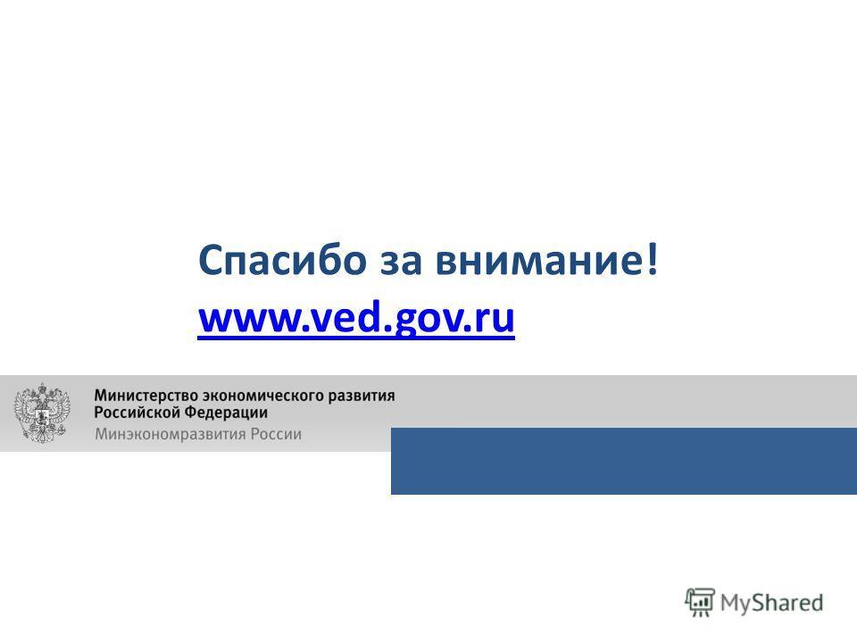 Спасибо за внимание! www.ved.gov.ru
