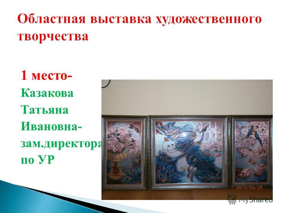 1 место- Казакова Татьяна Ивановна- зам.директора по УР