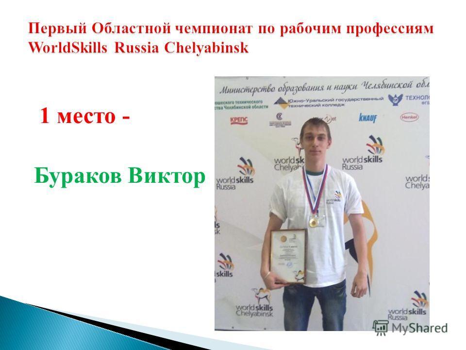 1 место - Бураков Виктор