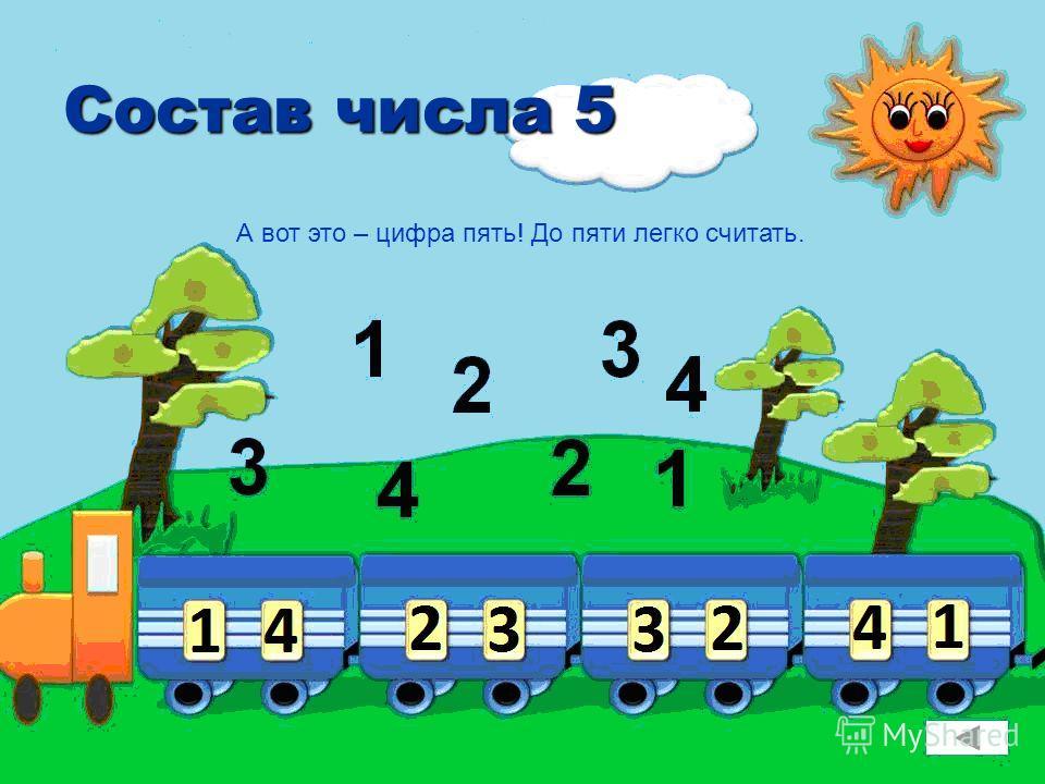Состав числа 5 А вот это – цифра пять! До пяти легко считать.
