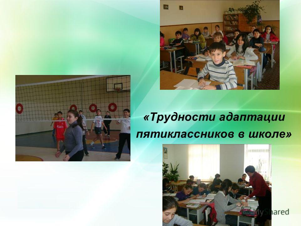 «Трудности адаптации пятиклассников в школе»