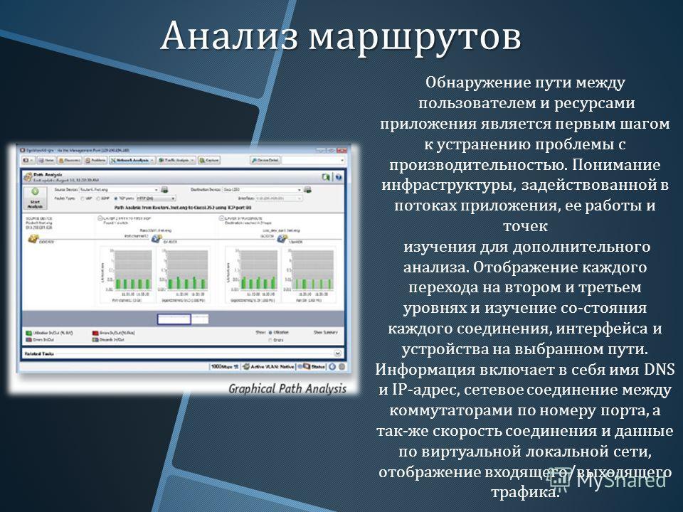 Анализ маршрутов Обнаружение пути между пользователем и ресурсами приложения является первым шагом к устранению проблемы с производительностью. Понимание инфраструктуры, задействованной в потоках приложения, ее работы и точек изучения для дополнитель