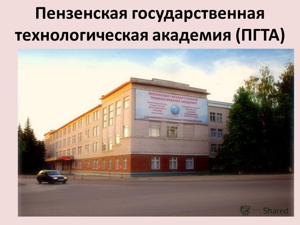 Пензенская государственная технологическая академия (ПГТА)