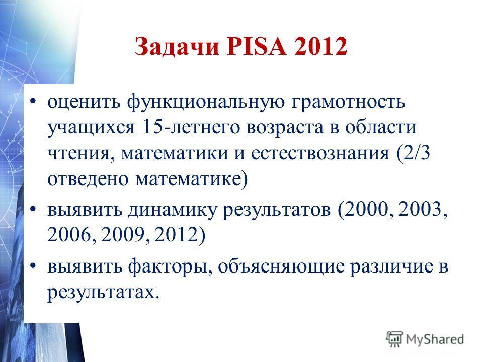 Презентация международное исследование pisa