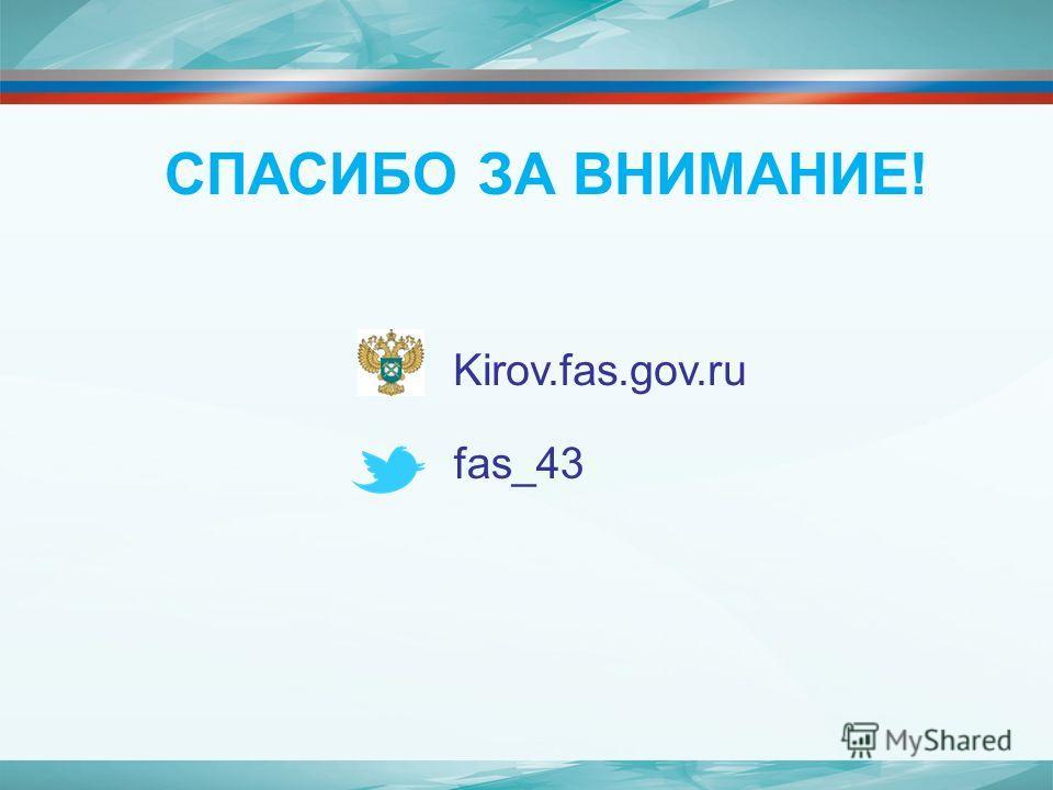 СПАСИБО ЗА ВНИМАНИЕ! Kirov.fas.gov.ru fas_43
