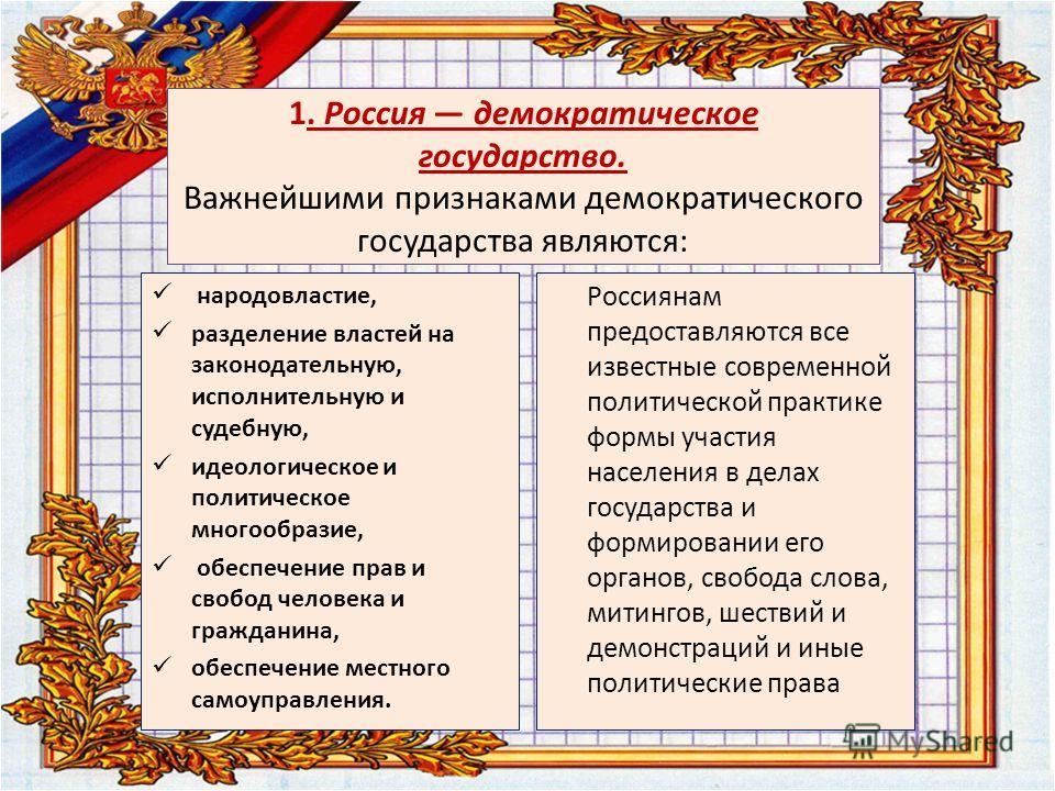 Основы конституционного строя это главные принципы государства, обеспечивающие подчинение его праву и характеризующие его как конституционное государство. Они изложены в главе 1. Конституции «Основы конституционного строя».