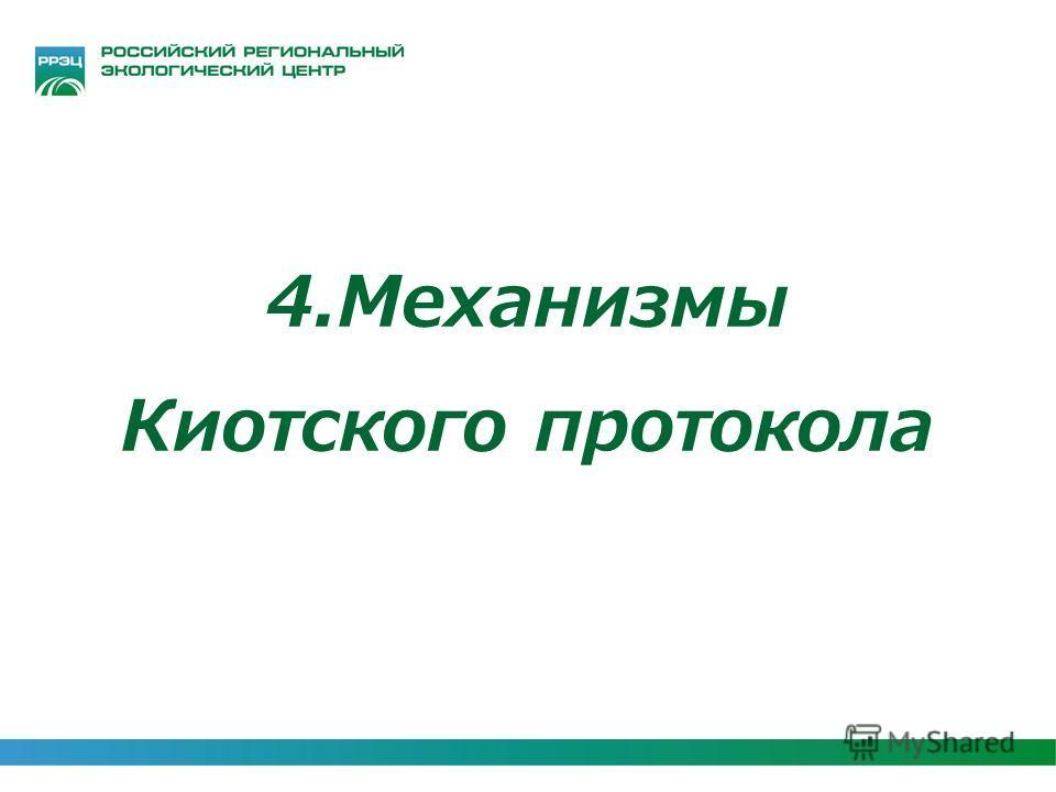 4.Механизмы Киотского протокола