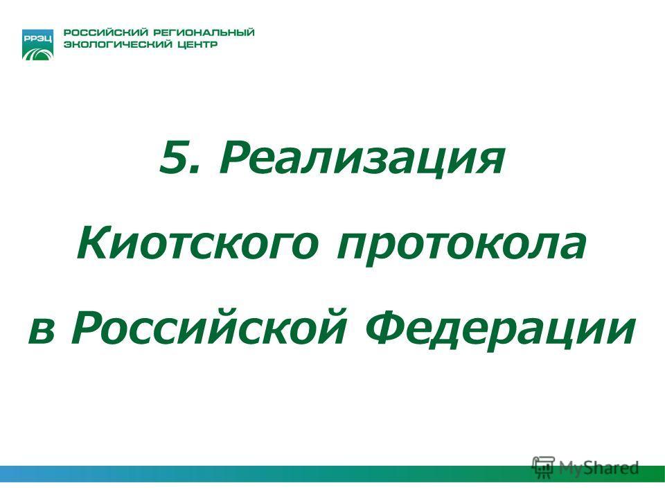 5. Реализация Киотского протокола в Российской Федерации