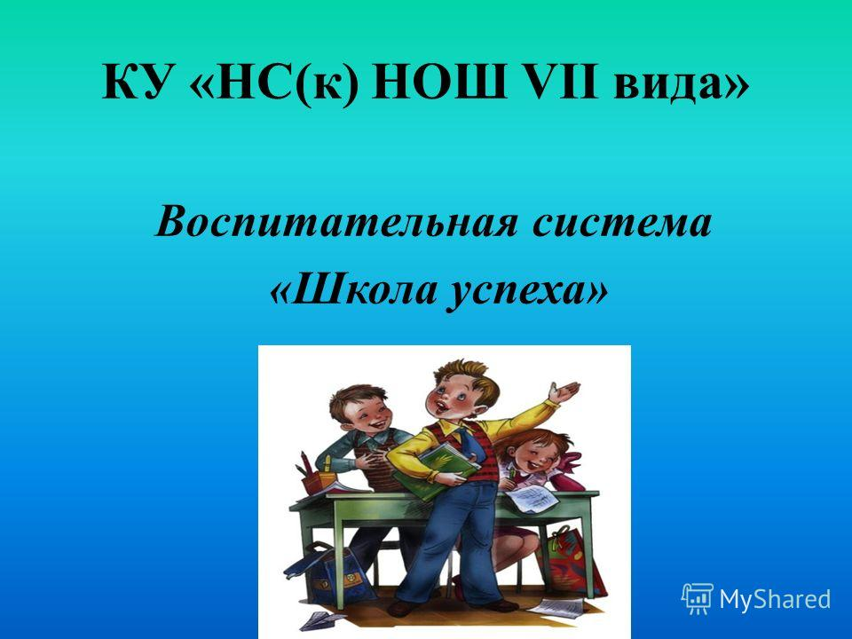 КУ «НС(к) НОШ VII вида» Воспитательная система «Школа успеха»