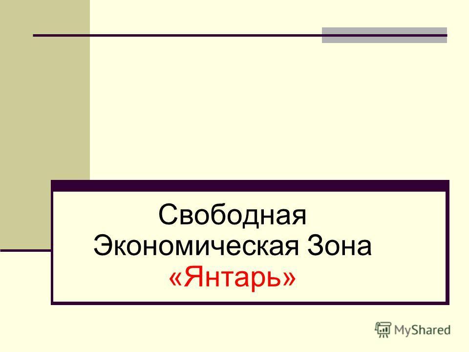 Свободная Экономическая Зона «Янтарь»