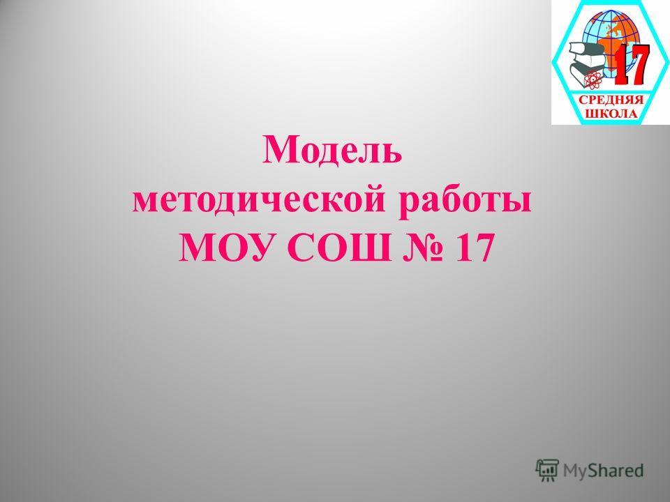 Модель методической работы МОУ СОШ 17