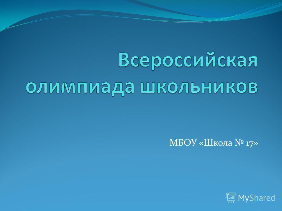МБОУ «Школа 17»