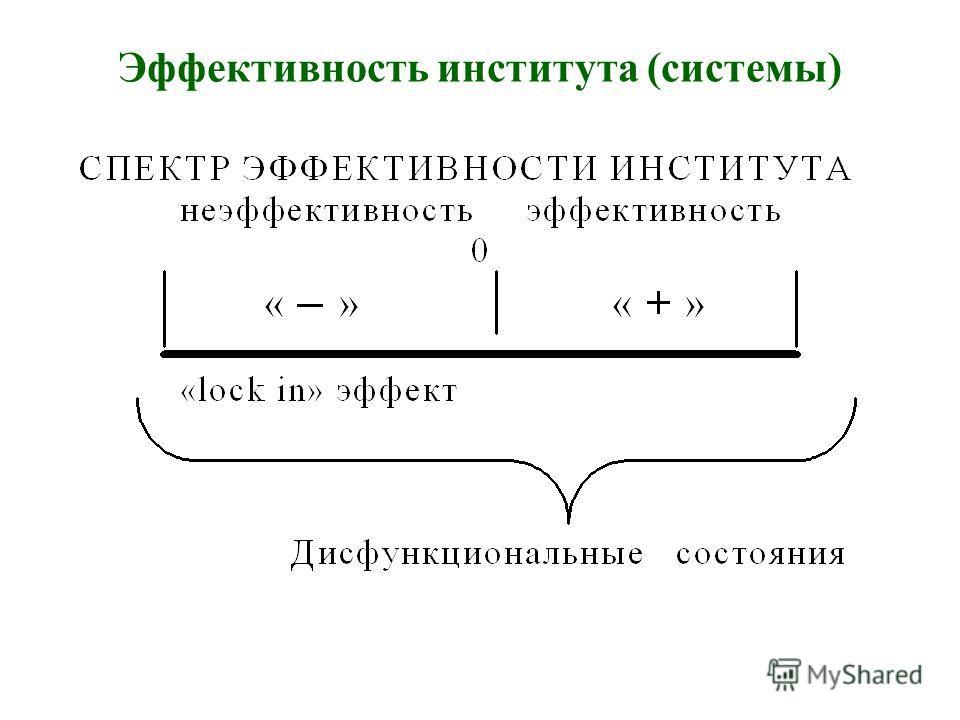 Эффективность института (системы)