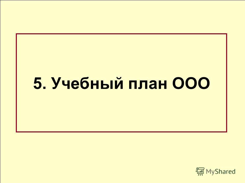 5. Учебный план ООО