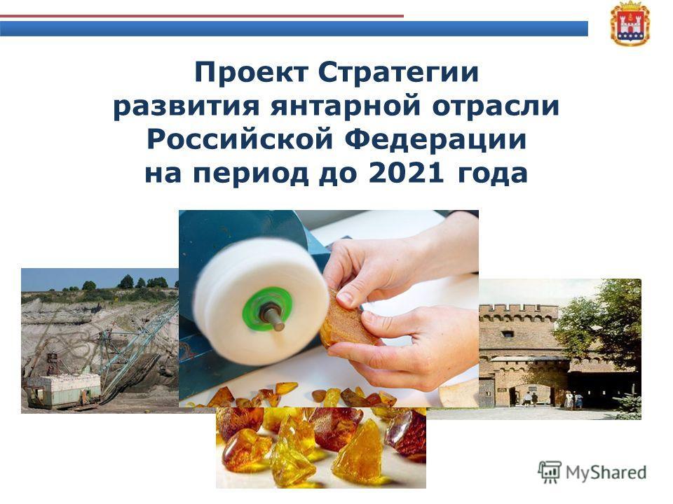 Проект Стратегии развития янтарной отрасли Российской Федерации на период до 2021 года 29 мая 2012 года 1