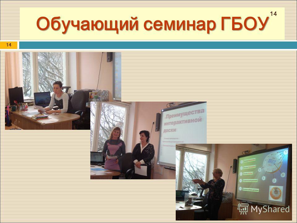 Обучающий семинар ГБОУ 14
