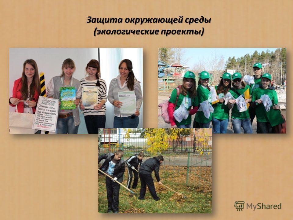 Защита окружающей среды (экологические проекты)