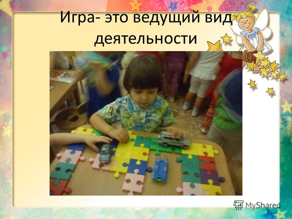 Игра- это ведущий вид деятельности