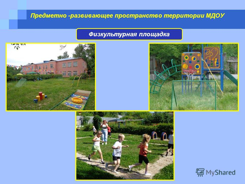 Предметно -развивающее пространство территории МДОУ Физкультурная площадка