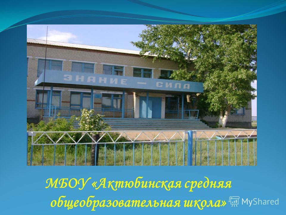 МБОУ «Актюбинская средняя общеобразовательная школа»
