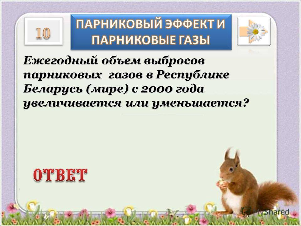 Ежегодный объем выбросов парниковых газов в Республике Беларусь (мире) с 2000 года увеличивается или уменьшается?