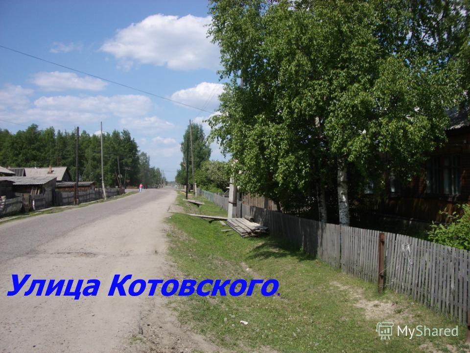 Улица Котовского.