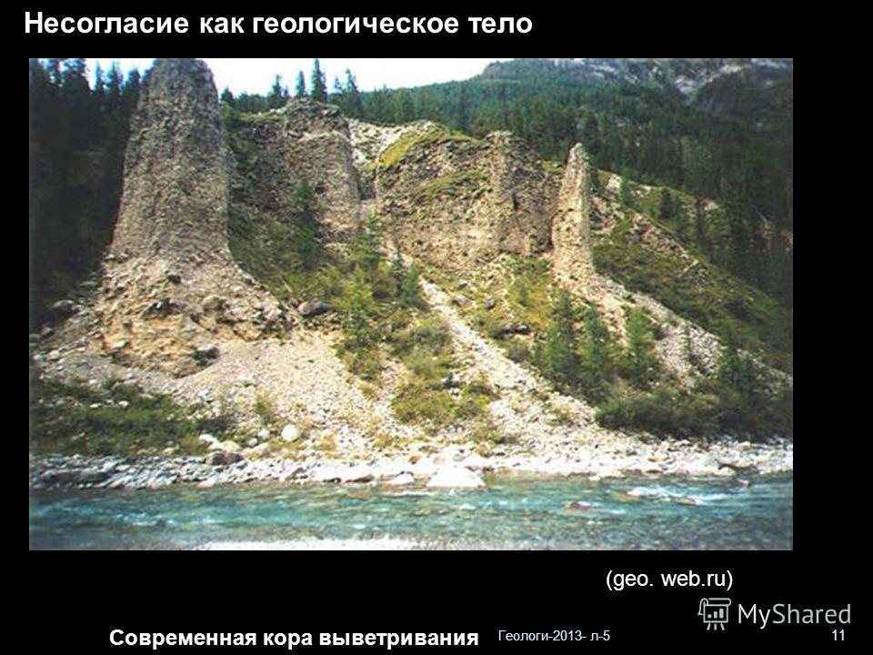Геологи-2013- л-5 11 Несогласие как геологическое тело Современная кора выветривания (geo. web.ru)