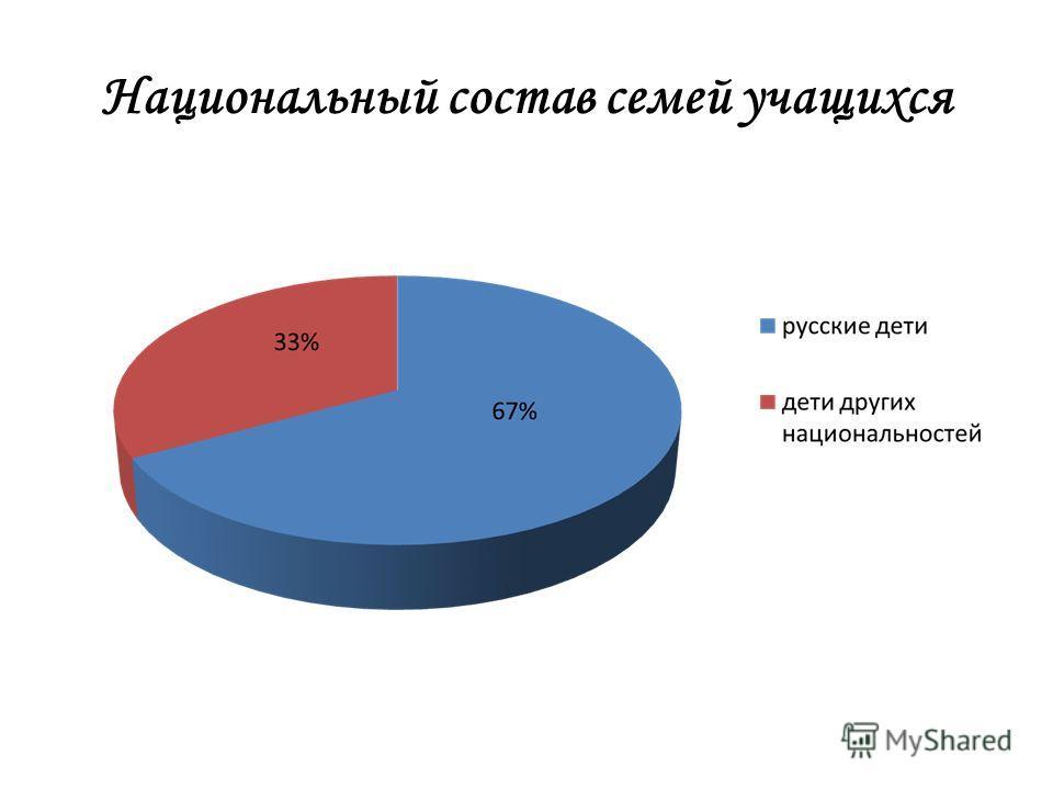 Национальный состав семей учащихся