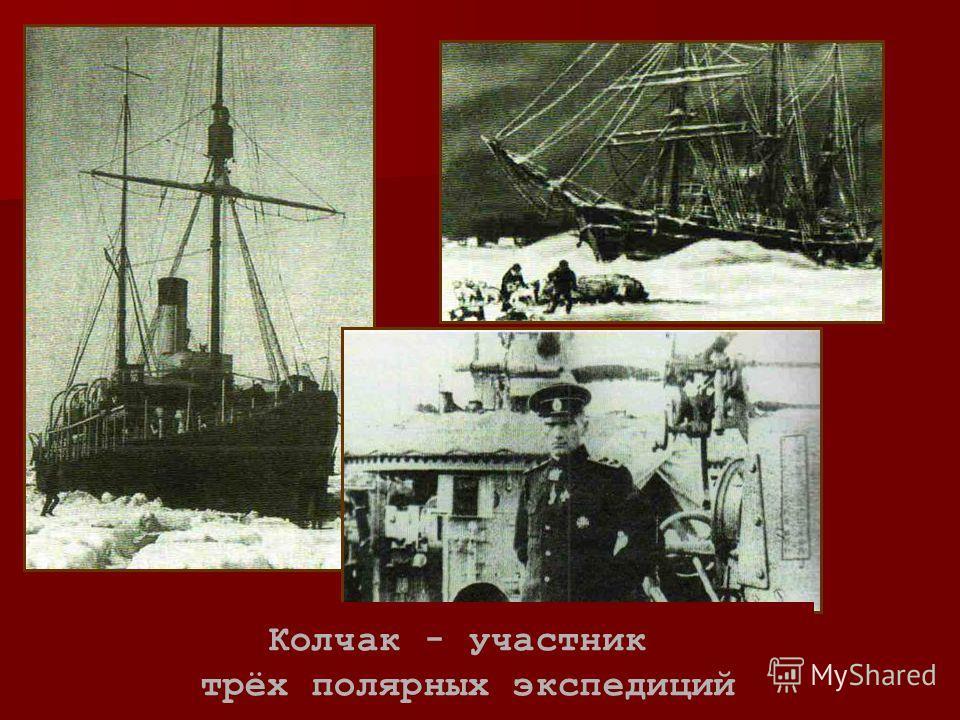 Колчак - участник трёх полярных экспедиций