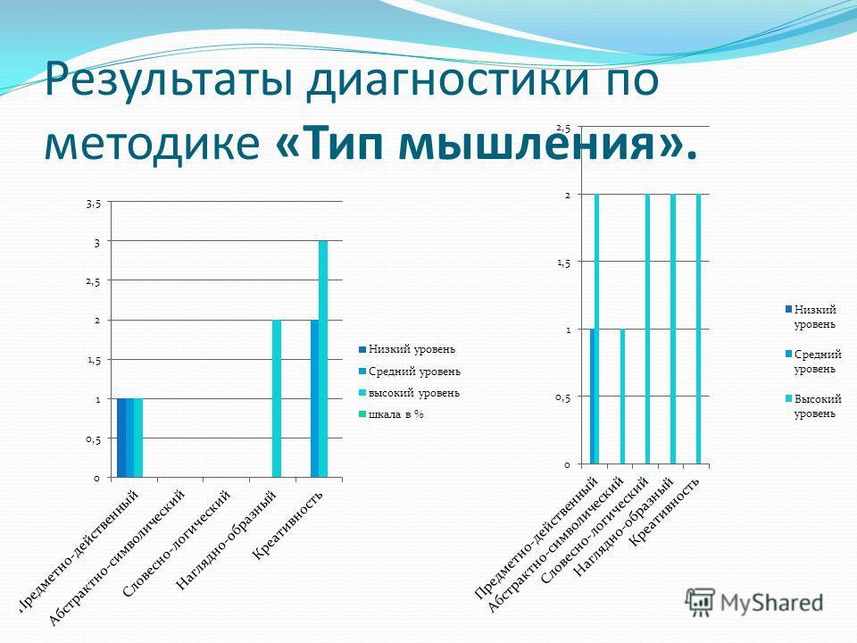 Результаты диагностики по методике «Тип мышления».