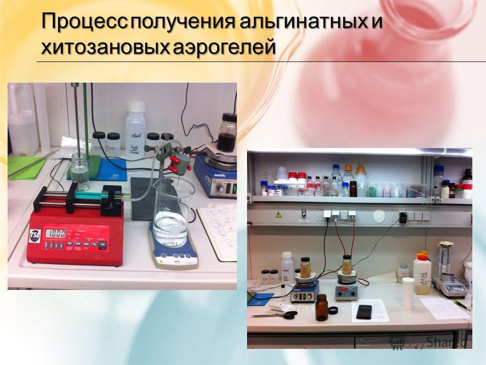 Процесс получения альгинатных и хитозановых аэрогелей