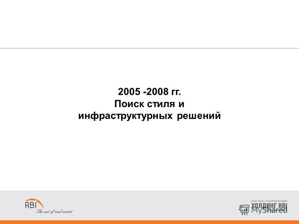 2005 -2008 гг. Поиск стиля и инфраструктурных решений