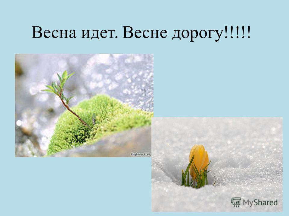 Весна идет. Весне дорогу!!!!!