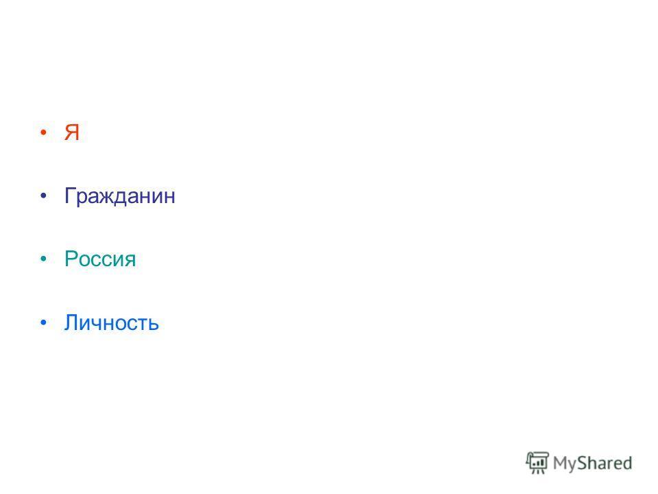 Я Гражданин Россия Личность