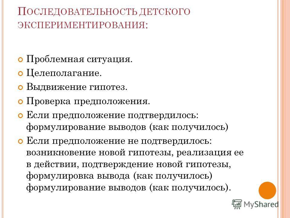 ЭКСПЕРИМЕНТИРОВАНИЯ