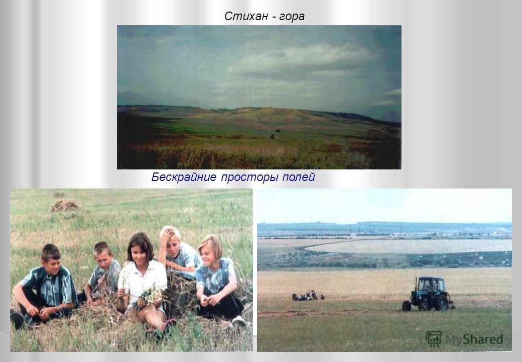 Бескрайние просторы полей Стихан - гора