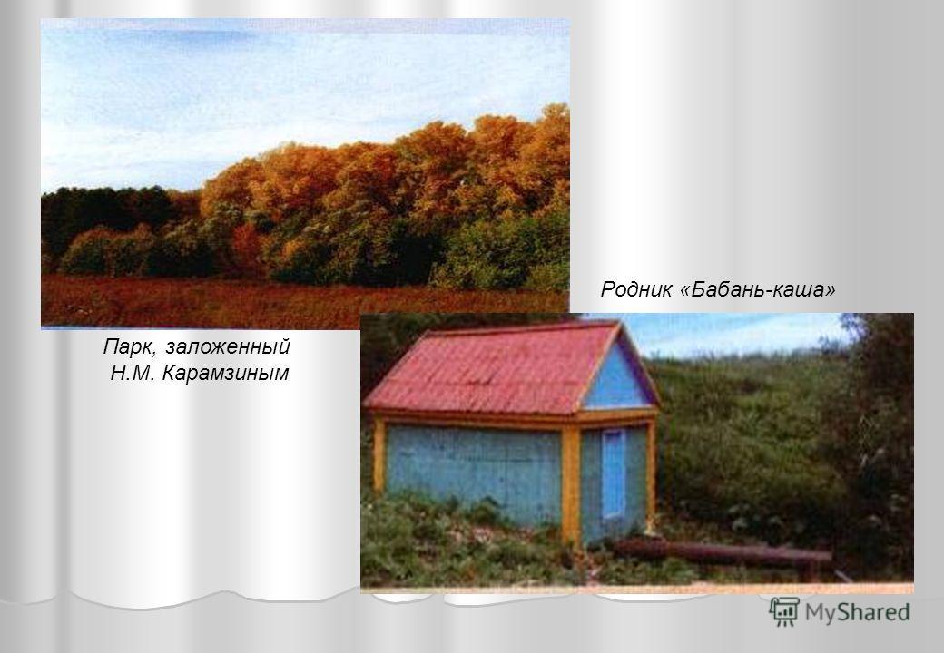Парк, заложенный Н.М. Карамзиным Родник «Бабань-каша»