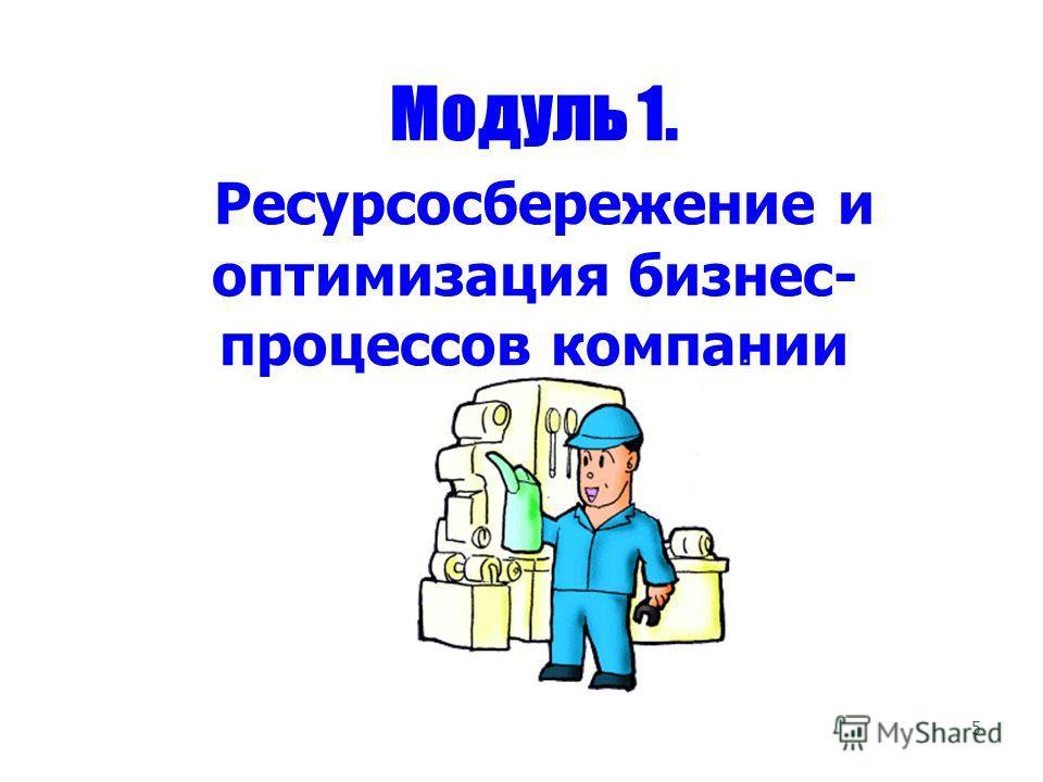 5 Модуль 1. Ресурсосбережение и оптимизация бизнес- процессов компании