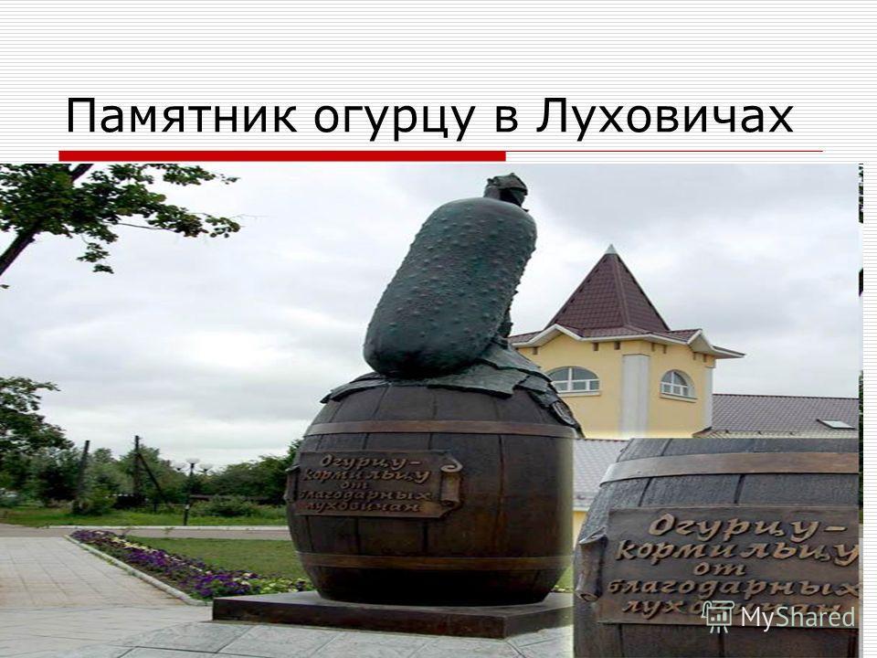Памятник огурцу в Луховичах