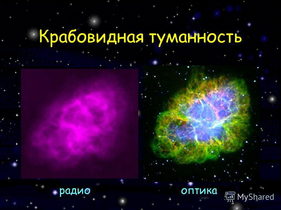 Крабовидная туманность радиооптика