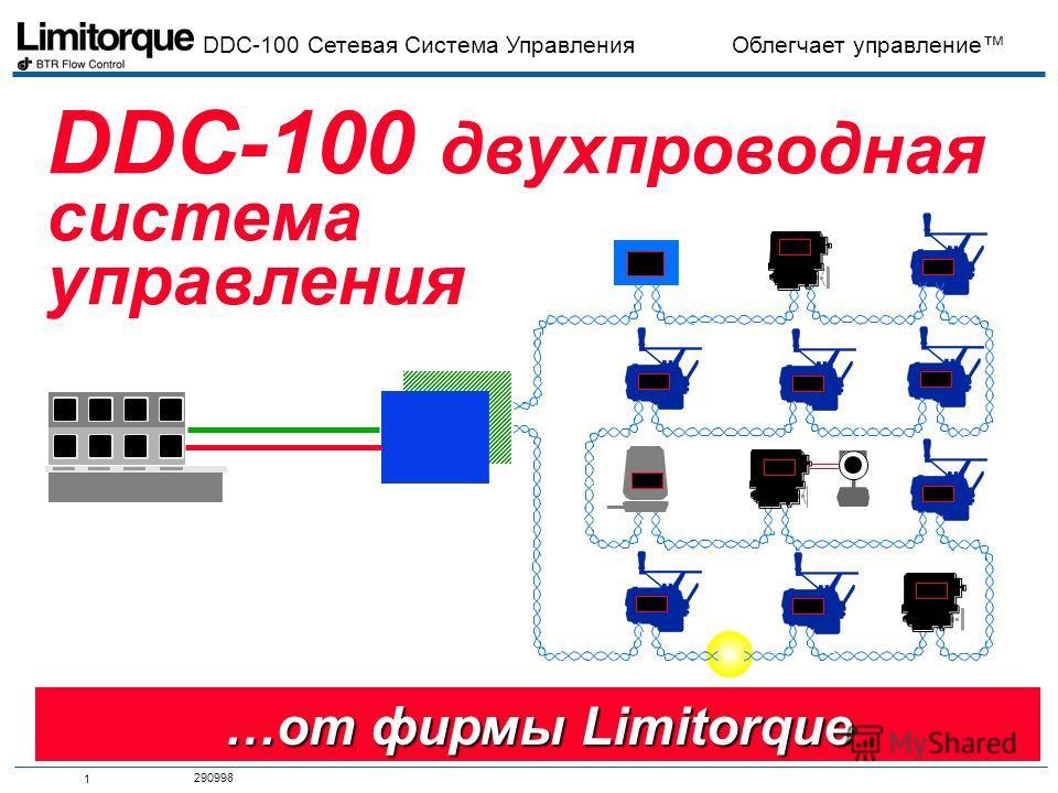 DDC-100 Сетевая Система Управления Облегчает управление 1 290998 DDC-100 двухпроводная система управления …от фирмы Limitorque