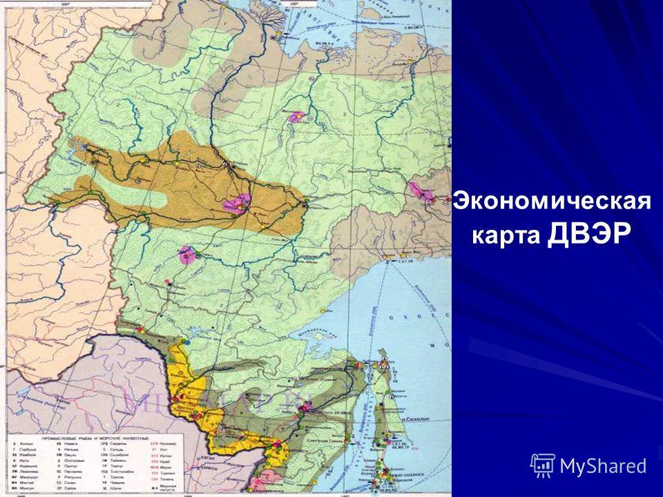 Экономическая карта ДВЭР