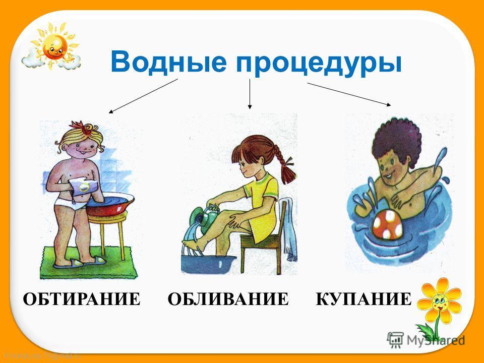 FokinaLida.75@mail.ru Водные процедуры ОБТИРАНИЕОБЛИВАНИЕКУПАНИЕ