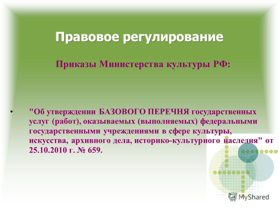 Приказы Министерства культуры РФ:
