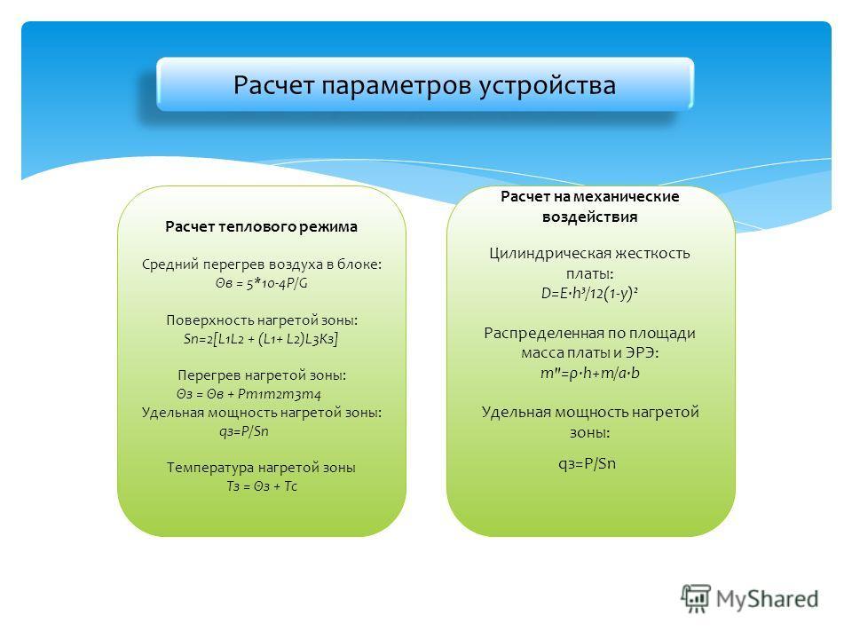 Расчет на механические воздействия Цилиндрическая жесткость платы: D=E·h³/12(1-y)² Распределенная по площади масса платы и ЭРЭ: m