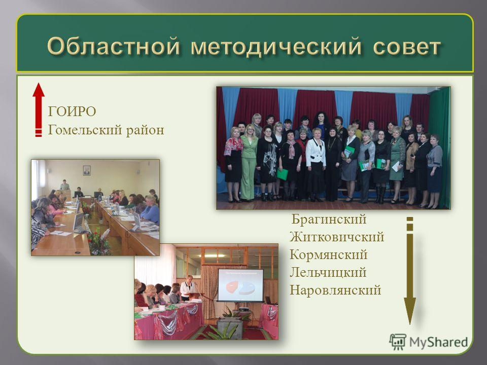 ГОИРО Гомельский район Брагинский Житковичский Кормянский Лельчицкий Наровлянский