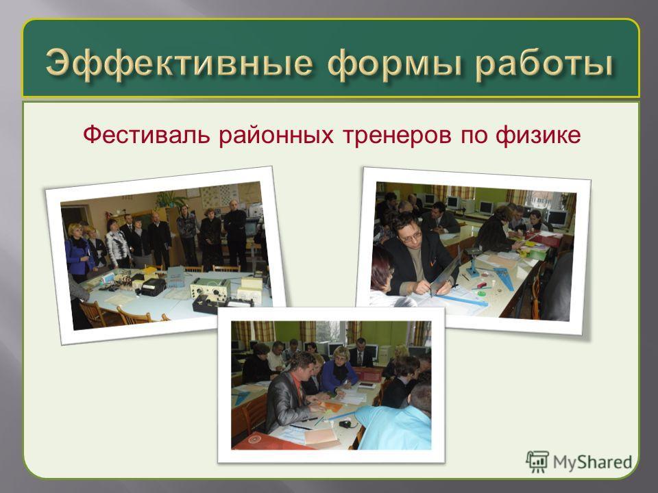 Фестиваль районных тренеров по физике